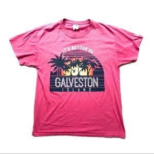 VTG Galveston Island Tourist Graphic Tee